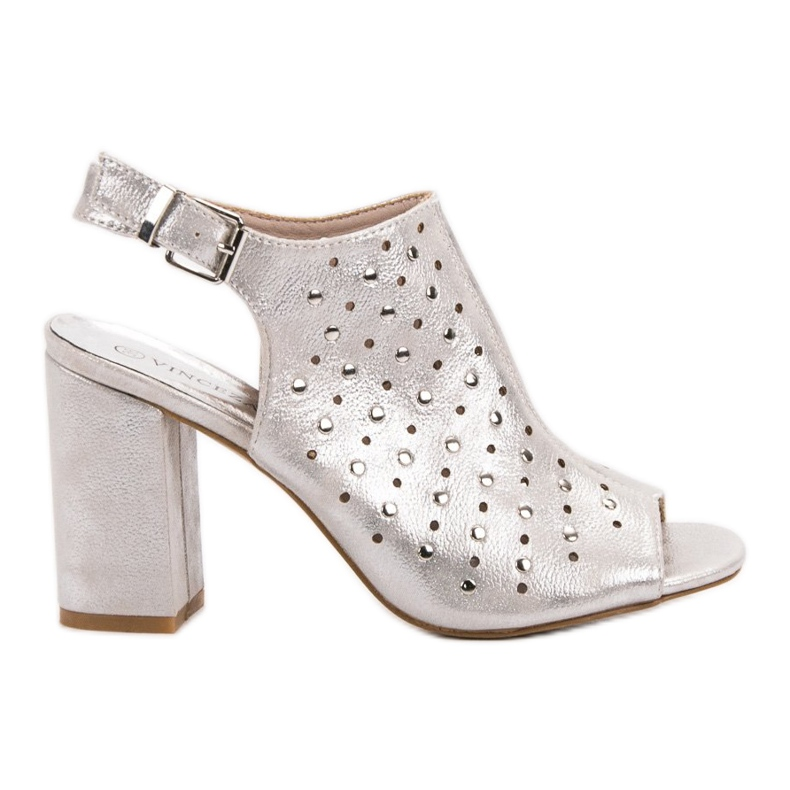 Sandałki Z Dżetami VINCEZA szare