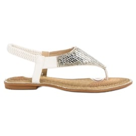 Encor Białe Sandały Japonki
