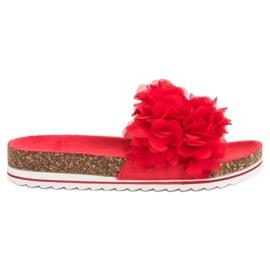 Seastar czerwone Modne Czrwone Klapki