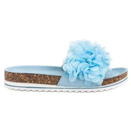 Seastar niebieskie Modne Błękitne Klapki