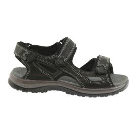 Sandały na rzepy lekki spód EVA DK czarne