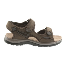 Sandały na rzepy lekki spód EVA DK brązowe