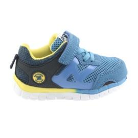 Buty sportowe blue American Club ES35 niebieskie żółte granatowe