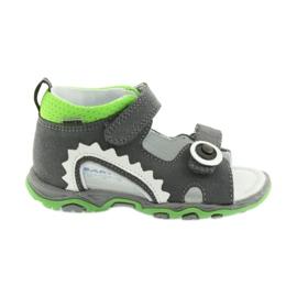 Sandałki chłopięce rzepy Bartek 51063 szare