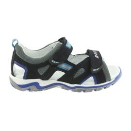 Sandałki chłopięce rzepy Bartek granatowo-szare
