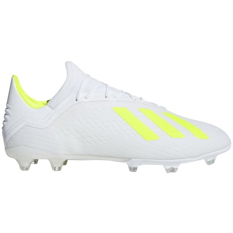 Buty piłkarskie adidas X 18.2 Fg M BB9364 białe białe