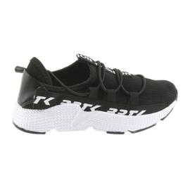 Bartek buty sportowe czarne 55109 wkładka skóra białe