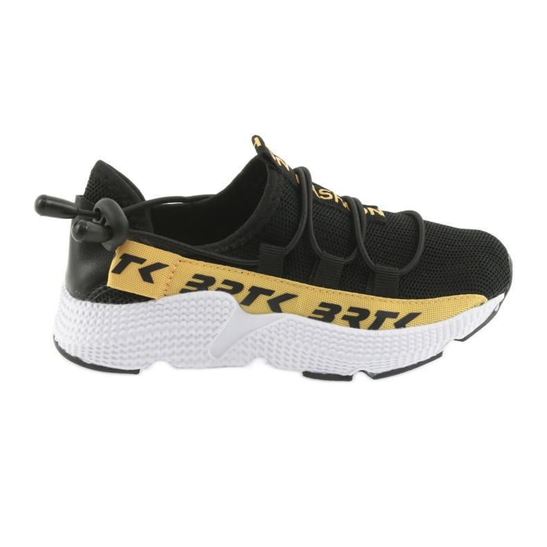 Bartek buty sportowe czarne 55109 wkładka skóra żółte