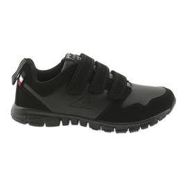 Buty sportowe na rzepy American Club FH16 czarne