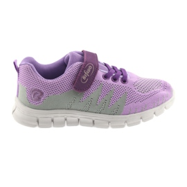 Befado obuwie dziecięce 516Y025 fioletowe szare