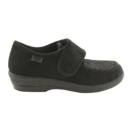 Czarne Befado obuwie damskie pu 984D017
