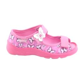 Różowe Befado obuwie dziecięce  969X134
