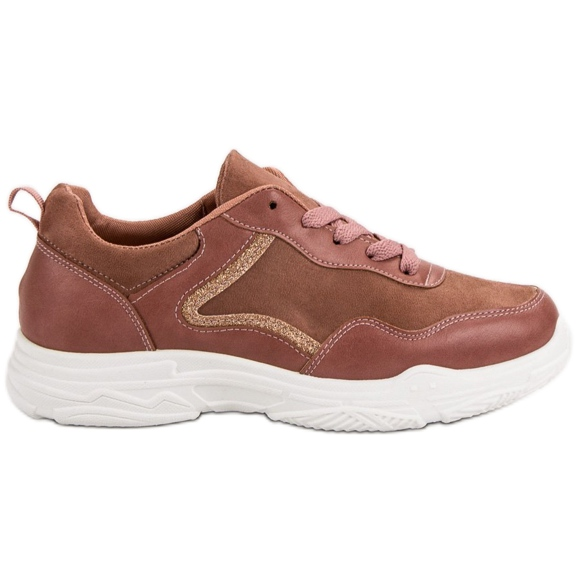 SHELOVET Modne Sneakersy różowe