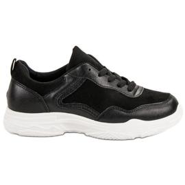 SHELOVET Modne Sneakersy czarne
