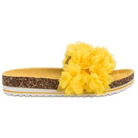 Seastar Modne Żółte Klapki