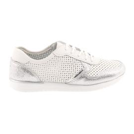 Sportowe buty damskie Filippo 737 biało-srebrne