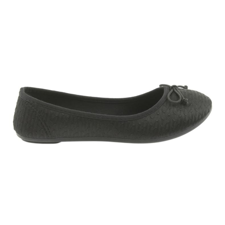 McKey trampki balerinki wsuwane czarne