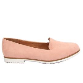 Mokasyny lordsy różowe MM50188 Pink