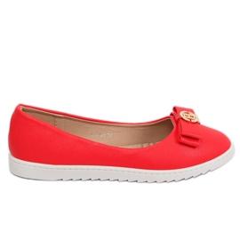 Balerinki damskie czerwone YSD-03 Red