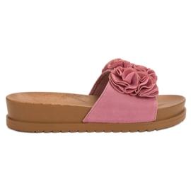 Primavera Różowe Klapki