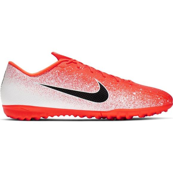 Buty piłkarskie Nike Mercurial Vapor X 12 Academy Tf M AH7384-801 białe biały, pomarańczowy
