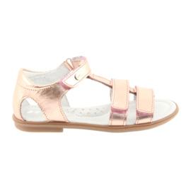 Sandałki dziewczęce różowe złoto Bartek 56016