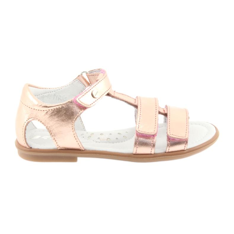 Sandałki dziewczęce różowe złoto Bartek 56016 żółte