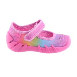 Wielokolorowe Befado tęcza obuwie dziecięce 109P183