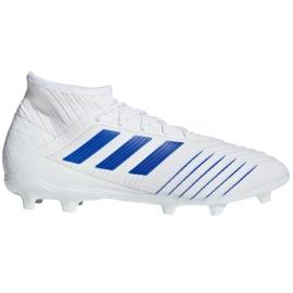 Buty piłkarskie adidas Predator 19.2 Fg M D97941 białe biały, niebieski
