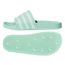 Zielone Klapki adidas Originals Adilette W CG6538