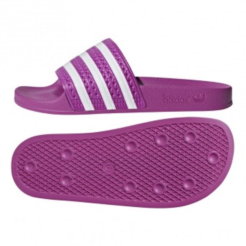 Klapki adidas Originals Adilette W CG6539 białe fioletowe