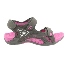 Sandały DK damskie lekki spód EVA szare