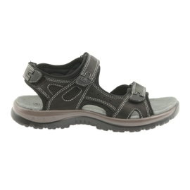 Sandały DK czarne na rzepy lekki spód EVA