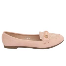 Mokasyny damskie różowe VS-662 Pink
