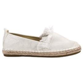 Lily Shoes białe Espadryle Z Frędzlami