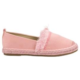 Lily Shoes różowe Espadryle Z Frędzlami