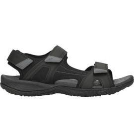 Sandały 4F M H4L18-SAM001 głęboka czerń czarne