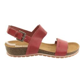Sandały czerwone damskie Big Star 274A016