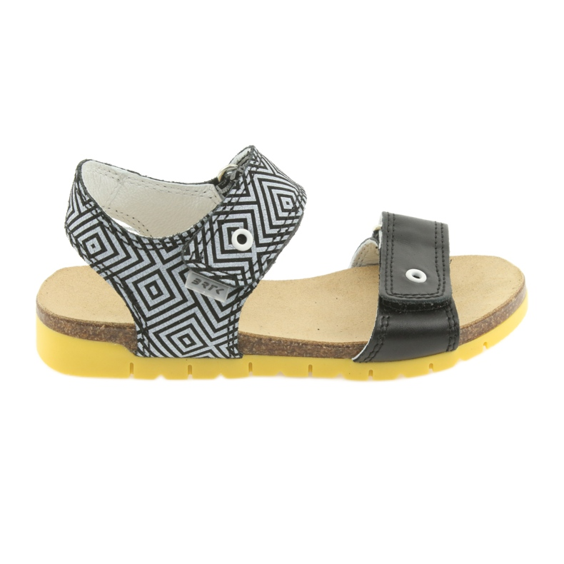 Sandałki dziewczęce Bartek 56183 czarne szare