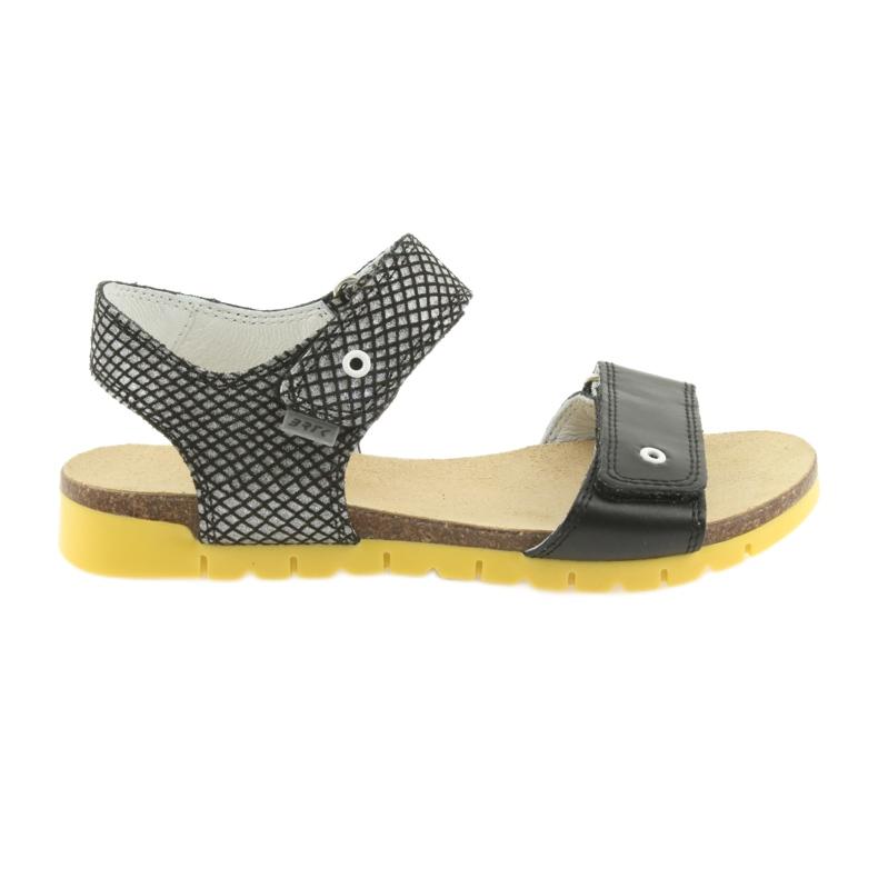 Sandałki dziewczęce Bartek 59183 czarne szare