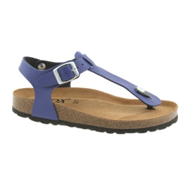 Sandały japonki BIOX azul niebieskie