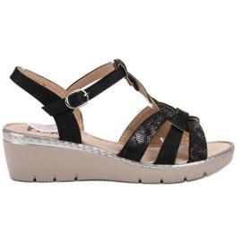 Kylie Lekkie Sandałki czarne