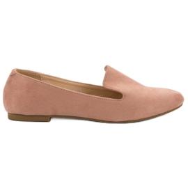 Lily Shoes Zamszowe Lordsy różowe