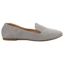 Lily Shoes szare Zamszowe Lordsy
