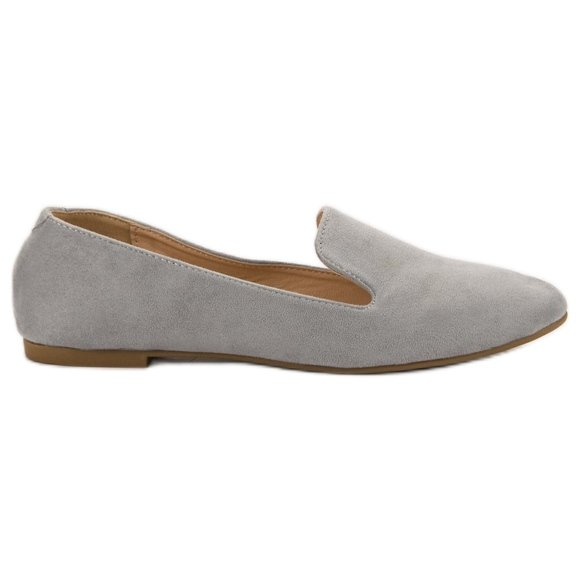 Lily Shoes Zamszowe Lordsy szare