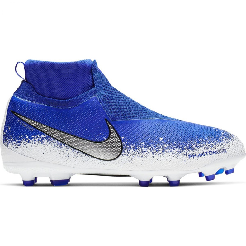 Buty piłkarskie Nike Phantom Vsn Elite Df Mg Jr AO3289-410 wielokolorowe niebieskie