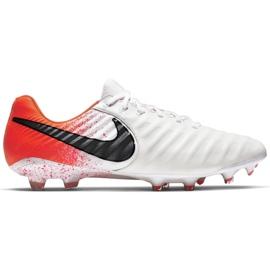 Buty piłkarskie Nike Tiempo Legend 7 Elite Fg M AH7238-118 białe biały, pomarańczowy