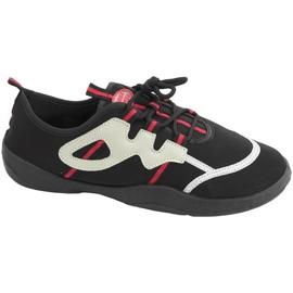 Buty plażowe Aqua-speed czarno szaro czerwone 19A