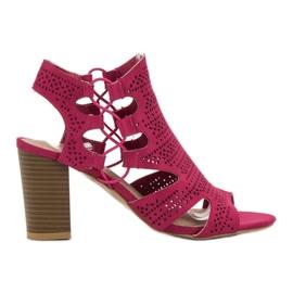 Goodin różowe Modne Sandałki Fuksja