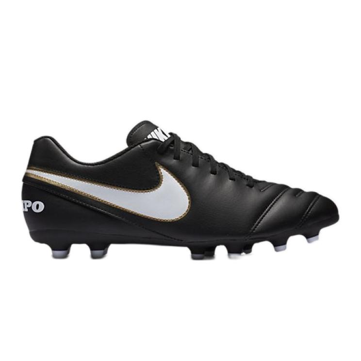 Buty piłkarskie Nike Tiempo Rio Iii Fg M 819233-010 czarny czarne